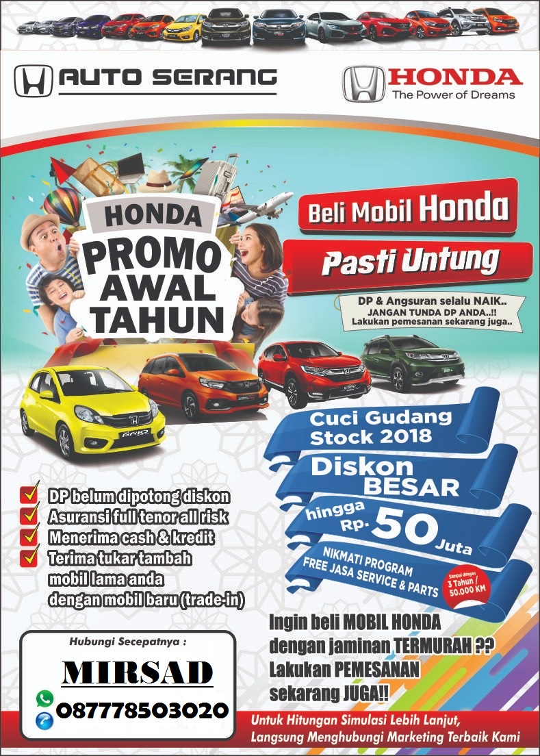 Promo Honda Serang  Special Awal Tahun 2019