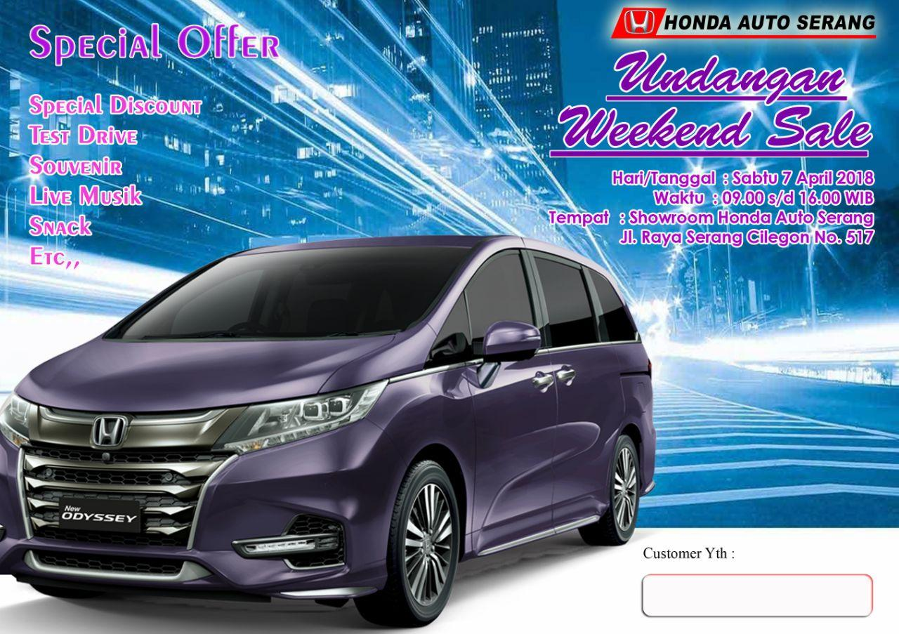 PROMO HONDA SERANG WEEKEND SALE APRIL